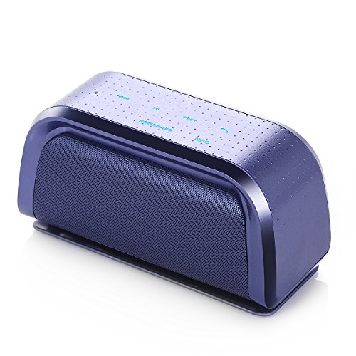 Poweradd Portable Wireless Speaker with Touch Control, NFC Function and Dual Powerful Stereo for iPhone 7, iPad, Samsung Galaxy 7, Tablets and More Media Devices - Purple