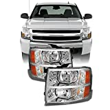 For 2007-2013 2014 Chevy Silverado Replacement Headlights Driver/Passenger Head Lamps Pair...