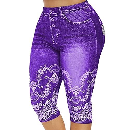N\C Pantalones de Yoga Bolsillos Laterales Cintura Alta Pantalones Vaqueros de Fitness Leggings Pantalones de Cadera adecuados para Damas Regulares y XL