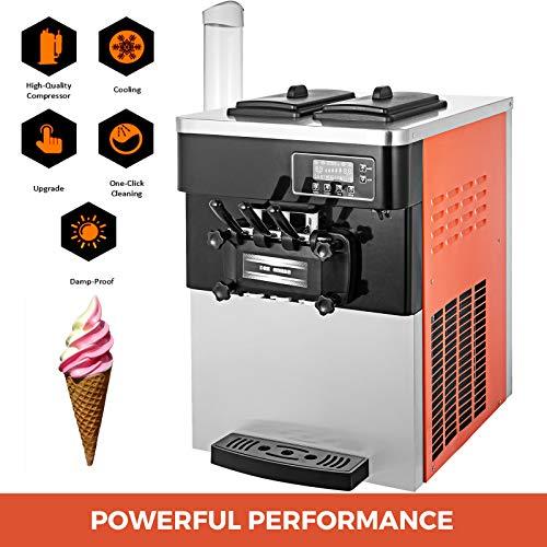 2 * 6L Gran capacidad 2 1 SABORES: Nuestra máquina de helados le permite controlar con precisión lo que entra en su postre. Durante la mezcla, agregue su comida favorita, ya sea merengue, chips de chocolate o fragmentos de nueces. Máquina para hacer ...