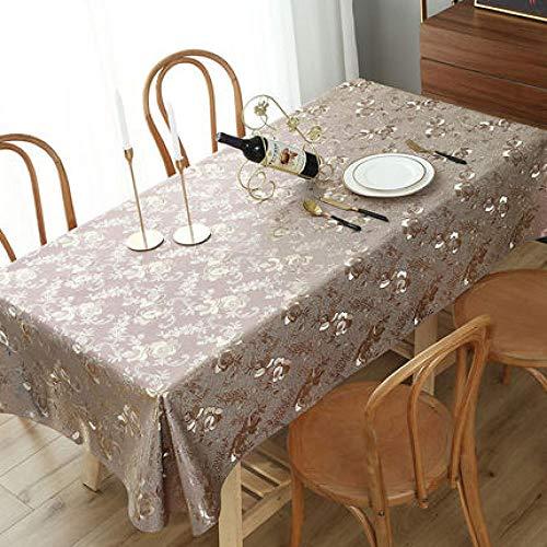 Traann Tafelkleed, waterdicht, langwerpig, rechthoekig tafelkleed, decoratie voor feestjes, bruiloft, rond, rechthoekig tafelkleed, warmte-reliëf 120*170
