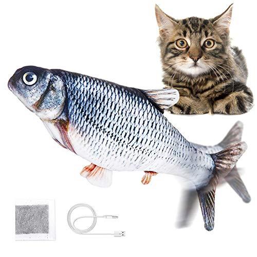 Jeteven Elektrisch Spielzeug Fisch, Katzenminze Fisch Spielzeug, Katze Interaktive...