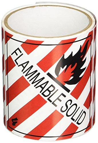 TapeCase SHIPLBL-031-50 Etichetta 'Fiammable Solid' - 50 per confezione