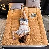 zyl Colchón de futón con mechones de múltiples Capas Almohadilla de colchón Gruesa de 4 cm Funda de colchón Tatami Plegable Acolchada Almohadilla para Dormir de Terciopelo francés Queen2