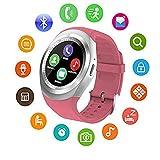 Reloj Inteligente Y1, Pantalla TáCtil Reloj TeléFono Bluetooth Compatible Con La Tarjeta Sim Del Tf, Perseguidor De La Aptitud, Con PodóMetro/MúSica/Hombres Y Las Mujeres, Android Y Ios (Tres Colores)