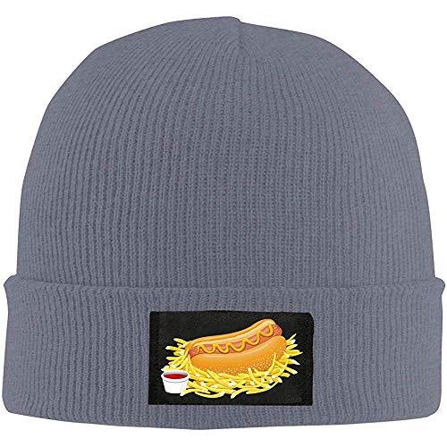 Linupdate-Store Gebreide muts, Hot Dog met ketchup, uniseks, gebreide muts, wintermuts, warme outdoormuts, effen