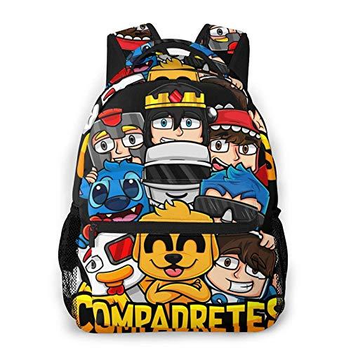 Yaxinduobao Mikecr-ack - Mochila escolar para niños para niñas, niños, ligera, duradera, para escuela primaria, mochila para libros Backpack College School Business Travel Bag Work Bookbag