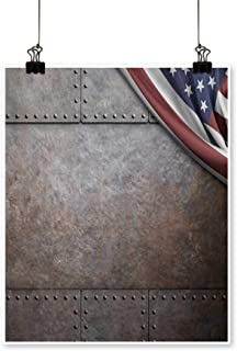 painting-home Canvas Prints Wall Art Rust Steel Metal Texture with Rivets as steam Punk Background Artwork for Wall Decor,28