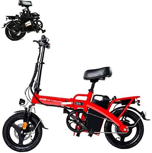 Bicicleta eléctrica de nieve, Bicicleta eléctrica inteligente de bicicletas de montaña for adultos plegable Bicicletas E E-bici-100 kilometros 300 kilometros Mileage36V El más alto 25 kilometros 28 Ah