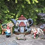 Fairy Garden Gnome Accessories Kit - Hand Painted Miniature Teapot Fairy House Figurine Set of 6 pcs, Indoor & Outdoor Holiday Ornaments Gifts for Girls Boys Adults, Yard Lawn Decor