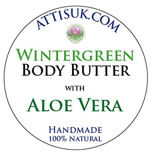 Attis Gaulteria cuerpo mantequilla con Aloe Vera | Vegan | Hidratante | rehidratar | crema facial | crema de manos | Natural | hecho a mano