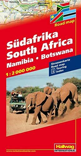 Südafrika 1:2 Mio. Strassenkarte: Namibia, Botswana (Hallwag Strassenkarten)