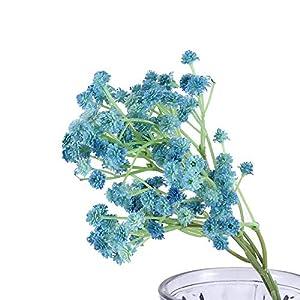 Silk Flower Arrangements Artificial and Dried Flower 1pc Babies Breath Flowers Artificial Fake Gypsophila Bouquets Party Birthday Wedding Decoration DIY Flower Heads Branch - ( Color: Blue )