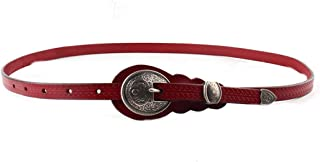 Women for Pants Dresses Genuine Leather Waist Belt (Color : Red)