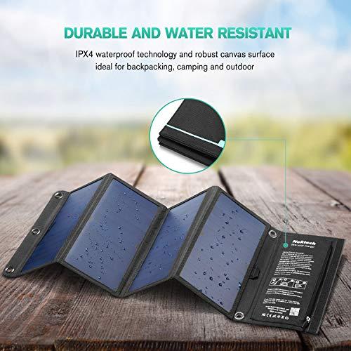 Nekteck 28W Foldable Portable Solar Charger.