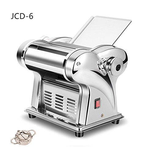 CGOLDENWALL - Macchina elettrica semiautomatica Wonton Maker per pasta, 220 V Jcd-6 1,5 mm fine, 4 mm Flat.