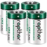 Rapthor 4 Pack 3V CR2 Lithium Battery 850mAh Non-Rechargeable 3 Volt Batteries for Fujifilm Instant Camera STAX Mini Rangefinder Flashlight Night-Vision Goggles