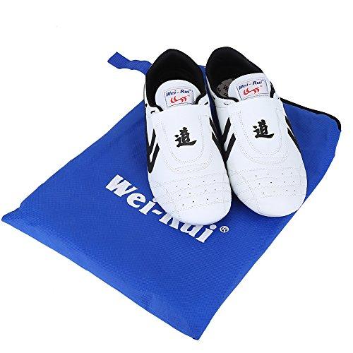 Taekwondo Schuhe, Kampfsport Sneaker Boxen Karate Kung Fu Tai Chi Schuhe schwarz Streifen Turnschuhe Leichte Schuhe für Männer Frauen Erwachsene Kinder