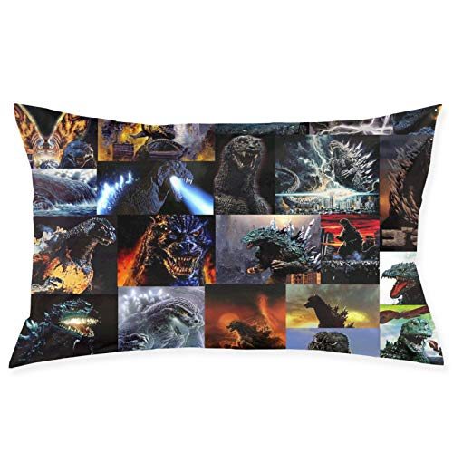 Yiqianh Pillowcase Custom Photo Album of Godzilla Pillow Cover Custom Zippered Pillow Case 20 X 30 Inch (Two Side)