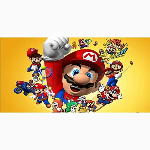 MIAOGOU Super Mario Bros Toalla De Playa De Microfibra con Estampado De Super Mario, Toallas De Baño Deportivas De Secado Rápido para Gimnasio, Estera De Yoga Personalizada, Manta para Niños
