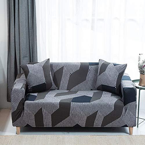 ASCV Funda de sofá elástica geométrica Funda de sofá elástica con Todo Incluido para sofá de Diferentes Formas Funda de sofá Estilo L A8 4 plazas