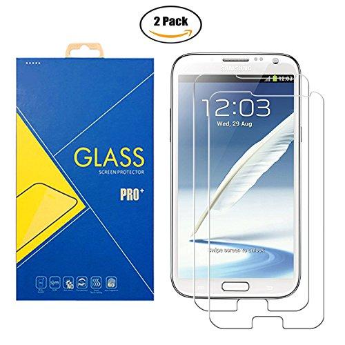 [2 Pack] Panzerglas Schutzfolie Samsung Galaxy Note II GT-N7100 / 7100 - Gehärtetem Glas Schutzfolie Displayschutzfolie für Samsung Galaxy Note II GT-N7100 / 7100