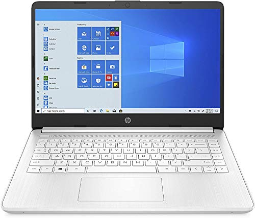 HP - PC 14s-fq0038nl Notebook, AMD 3020e, RAM 4 GB, SSD 64 GB, Grafica AMD Radeon, Windows 10 Home S, Schermo 14' HD SVA, USB-C, HDMI, Webcam TrueVision 720p, RJ-45, bianco