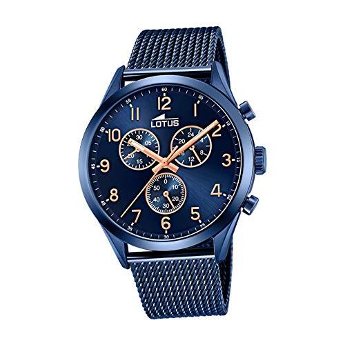 Lotus Reloj Cronógrafo para Hombre de Cuarzo con Correa en