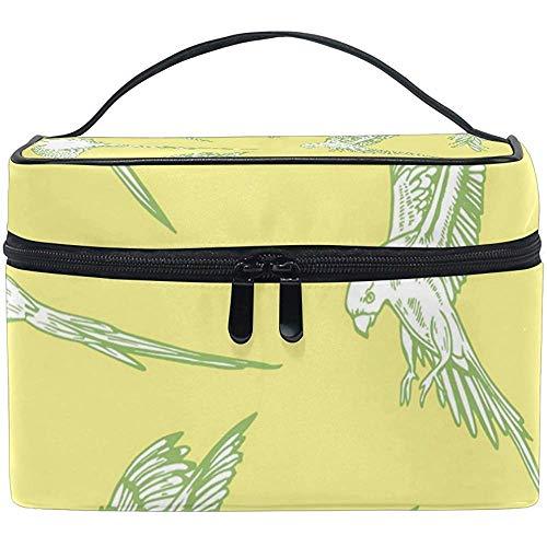 Oiseaux Art Cosmetic Bag Travel Makeup Train Cases Storage Organizer