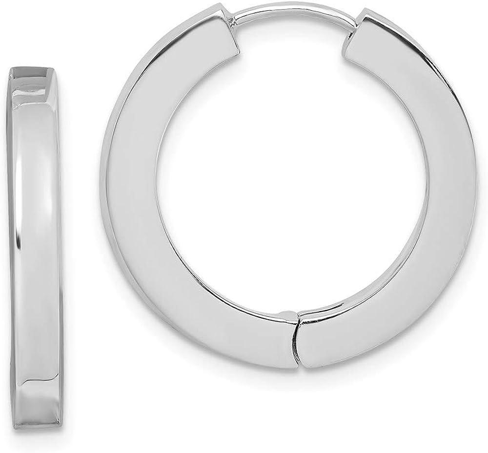 Sterling Silver Max 40% OFF Hollow Long Beach Mall Hinged Earrings Hoop