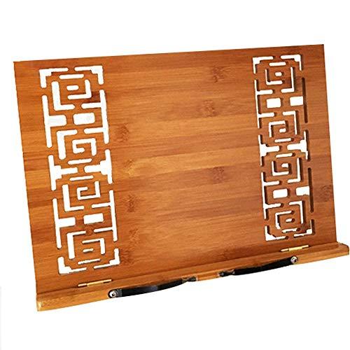 YCYG boekenstandaard, boekhouder, leesbureau document bamboe houten map boekenplank lezen plank lezen kalligrafie lezen Easel