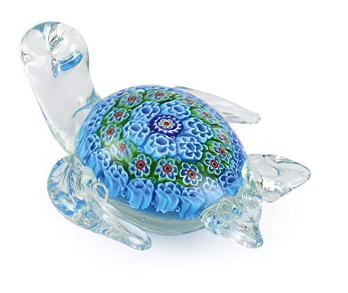 Millefiori Art Glass Turtle Figu...