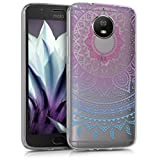 kwmobile Schutzhülle für Motorola Moto G5S - TPU Hülle Case Cover Etui Schutzhülle mit Motiv Indische Sonne in Blau/Pink/Transparent