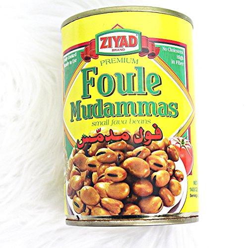 Ziyad Foule Muddamas (Fava Beans), 15.5-Ounce (Pack of 6)