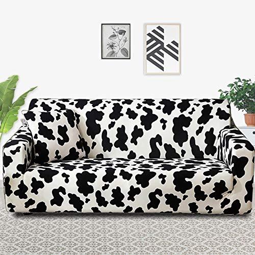 Funda para Muebles con Estampado Floral, Fundas para sofá, Funda elástica para sofá para Sala de Estar, Funda Protectora Antideslizante para Muebles A10, 3 plazas