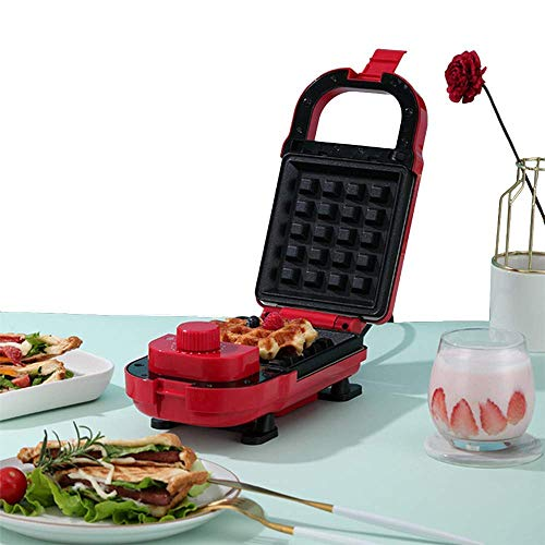 Mini fabricante de hierro para los waffles individuales paninis con platos recubiertos antiadherentes para otros en el desayuno o bocadillos para el desayuno, el almuerzo o los bocadillos zhuang94