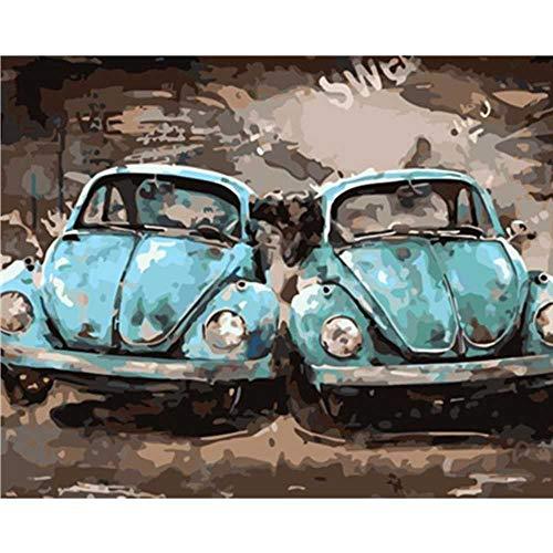 YSNMM Schilderen Door Nummers Diy Stijlvolle Koele Kever Auto Stilleven Canvas Bruiloft Decoratie Art Picture Gift
