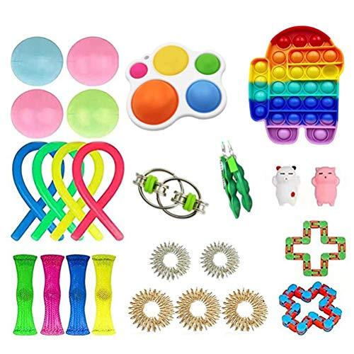 Gazaar Juguetes sensoriales fidget 26 piezas juguetes sensoriales para el autismo alivio del estrés, juguetes antiansiedad, juguetes de mano para niños y adultos, alivio de la ansiedad, autismo TDAH