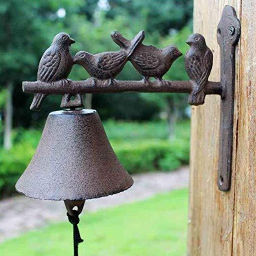 Hmy LRW deurbel, handmatig, klassiek, middeleeuwse stijl, 4 vogels