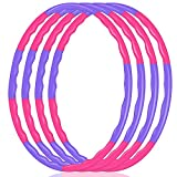 2Buyshop 4 Pack Hoola Hoop for Kids, Size Adjustable & Detachable Length Hoola Hoops Plastic Toys for Kids...