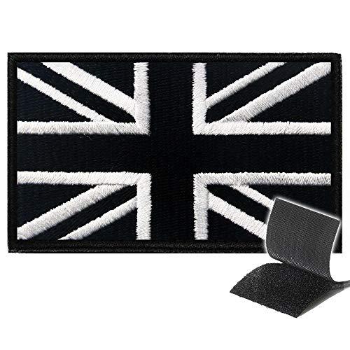Ecusson UK Scratch Patch UK Angleterre - Patch Scratch pour Gilet lesté Patch Airsoft replique, Airsoft Gilet tactique militaire, sac a dos, veste militaire homme,gilet par balle,Patch Doudoune