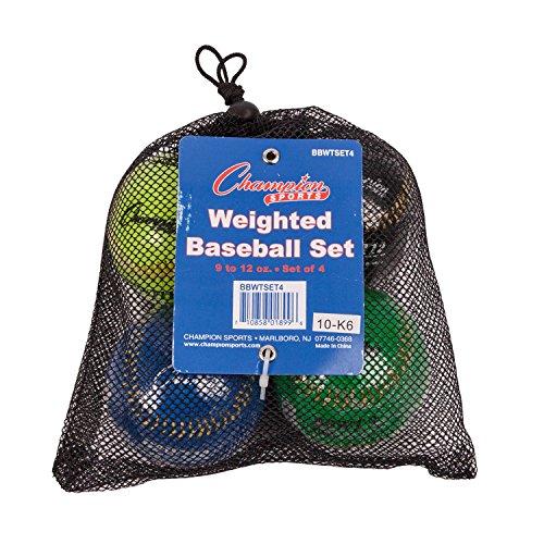 Champion Sports gewichteten Baseball Set: Offizielle Größe Colorful Basebälle für Kinder, Jungen und Mädchen–Youth League Training & Pitching Equipment–4Kugeln