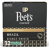 Peet's Coffee Brazil Minas Naturais K-Cup Coffee Pods for Keurig Brewers, Medium Roast, Single Origin Brazil, 32 Count