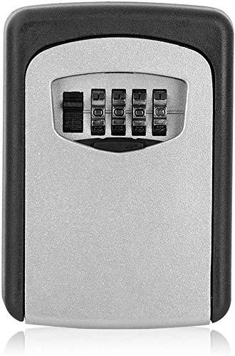 Abschließbare Schlüsselbox mit Zahlenschloss Sichere Schlüsselbox Schlüsselsafe Schlüsseltresor, mit 4-stelligem Hochcodeschloss Große Schlüsselbox