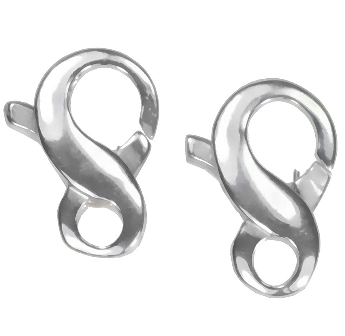 uGems 2 Sterling Silver Medium Infinity Clasp 6x11mm