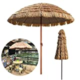 Tiki Thatch Patio 1.6m Jardín Patio al Aire Libre Parasol Hawaiano Hula Beach Color Natural Fácil de Montar, A Prueba de Viento, para Piscina Pequeño Bistro Jardín Césped