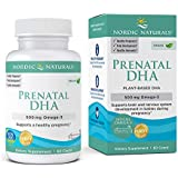 Nordic Naturals Vegan Prenatal DHA, Unflavored - 500 mg Plant-Based DHA - 60 Soft Gels - Supports Brain Development in Babies & Healthy Pregnancy - Non-GMO - 30 Servings