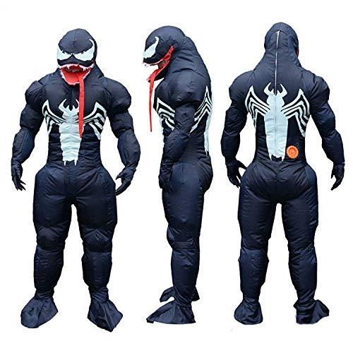 Xiaoyue Die neuesten Adult Inflatable Venom-Kostüm Filmrollen Kostüme Halloween Lustige Party-Kleid Neutral Muskelmann und Damen-Kostüm lalay
