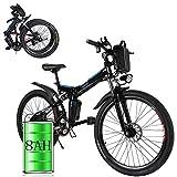 Laiozyen Vélo Electrique 26' e-Bike VTT Pliant 36V 8AH Batterie au Lithium de Grande Capacité et Le Chargeur Premium Suspendu et Shimano Engrenage (Typ3_26'')