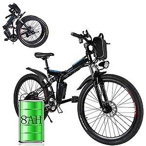 immagine di Bunao Bicicletta Elettrica City Bike Pieghevole a Pedalata Assistita, Ruote 26'', velocità 25km/h, 36V 8AH (Ruote 26''_1)